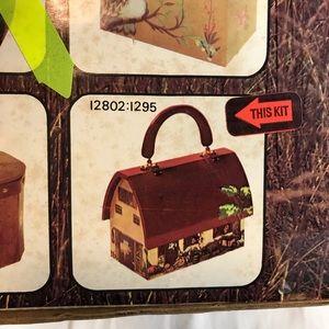 Vintage Craft Kit Wood Barn Purse Handbag Handle